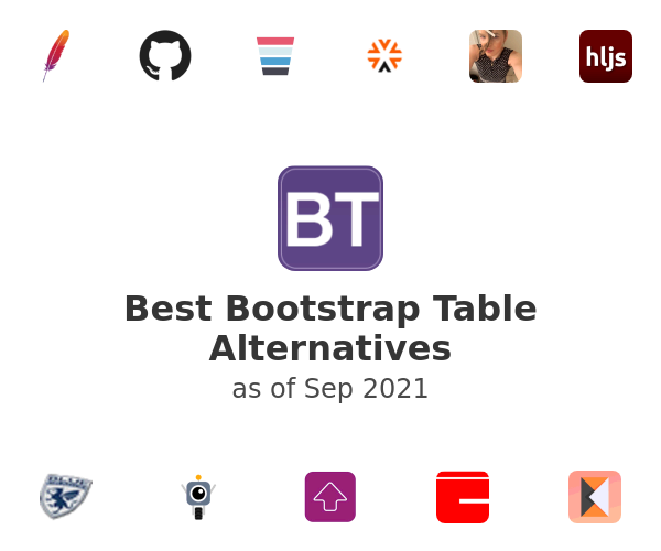 Best Bootstrap Table Alternatives