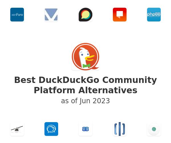 Best DuckDuckGo Community Platform Alternatives