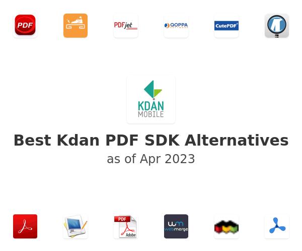 Best Kdan PDF SDK Alternatives