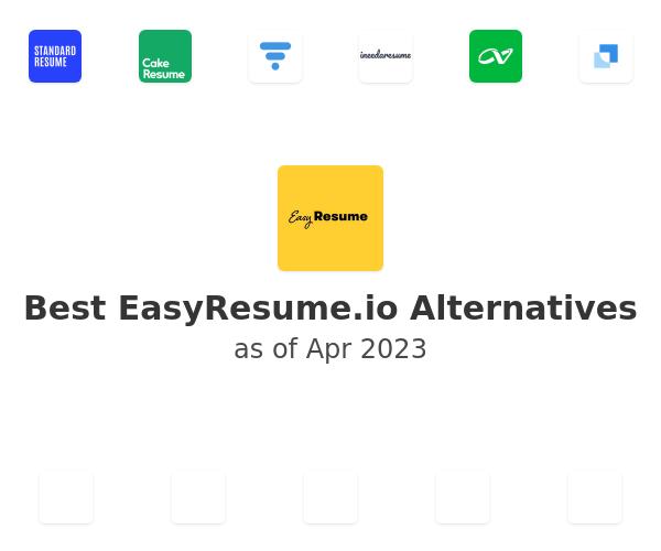 Best EasyResume.io Alternatives