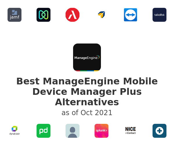 Best ManageEngine Mobile Device Manager Plus Alternatives