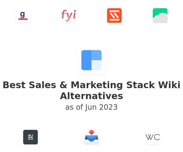 Best Sales & Marketing Stack Wiki Alternatives