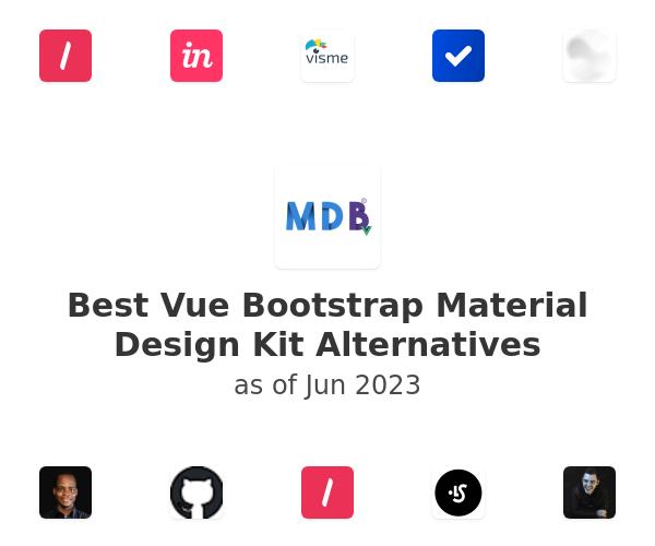 Best Vue Bootstrap Material Design Kit Alternatives