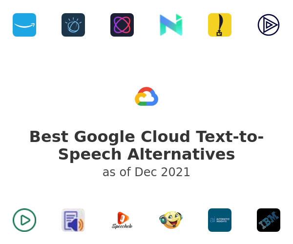Best Google Cloud Text-to-Speech Alternatives