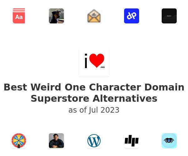 Best Weird One Character Domain Superstore Alternatives
