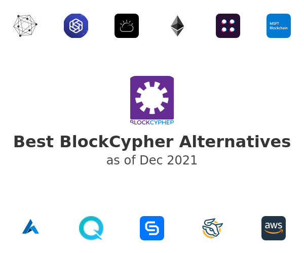 Best BlockCypher Alternatives