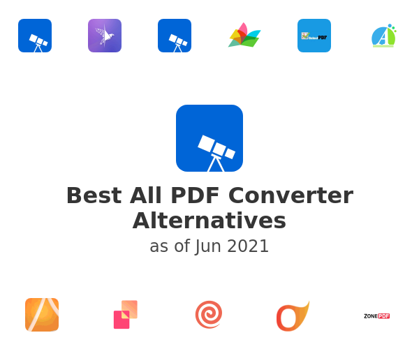 Best All PDF Converter Alternatives