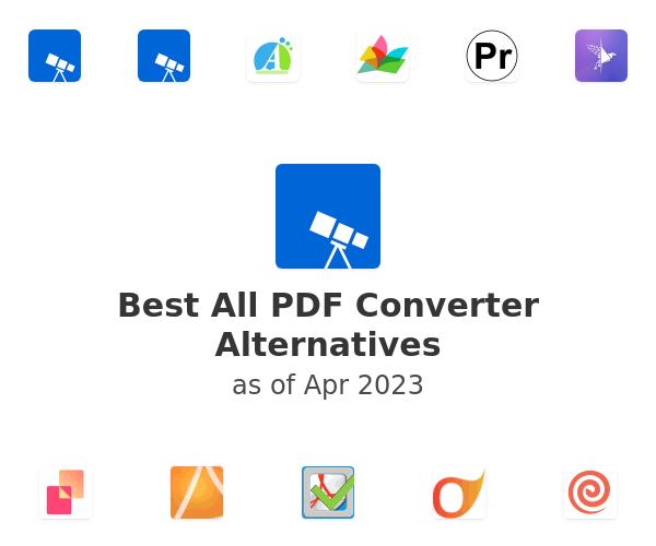 Best All PDF Converter Alternatives