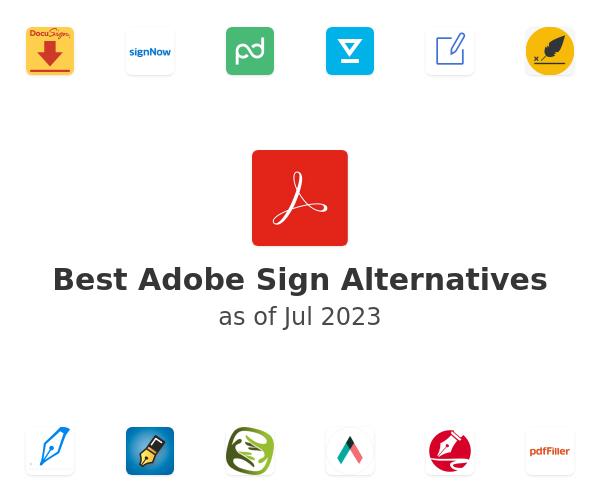 Best Adobe Sign Alternatives