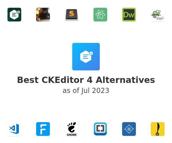 Best CKEditor 4 Alternatives
