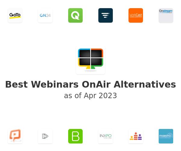 Best Webinars OnAir Alternatives