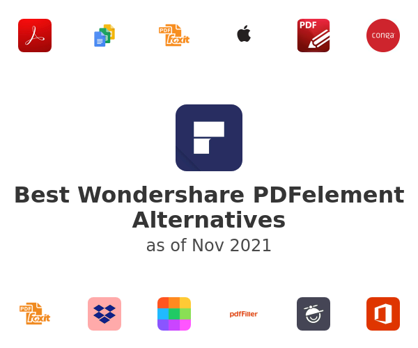 Best PDFelement Alternatives