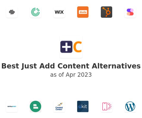 Best Just Add Content Alternatives