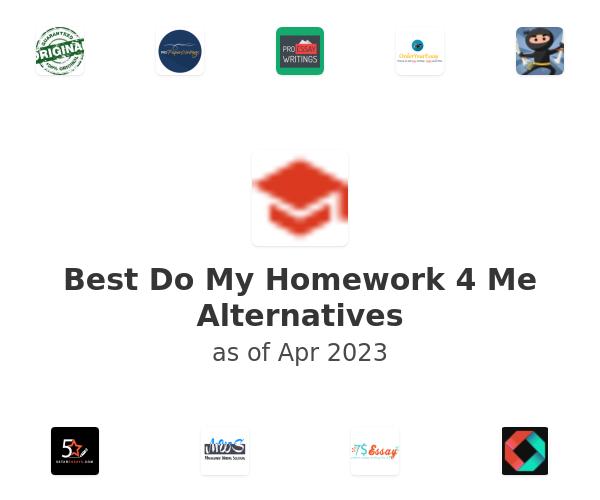 Best Do My Homework 4 Me Alternatives