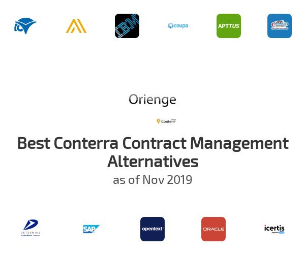 Best Conterra Contract Management Alternatives