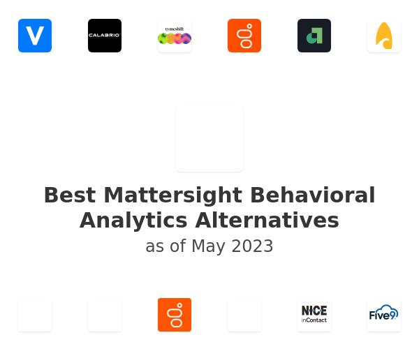 Best Mattersight Behavioral Analytics Alternatives
