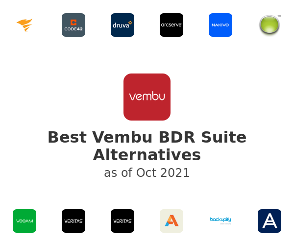 Best Vembu BDR Suite Alternatives