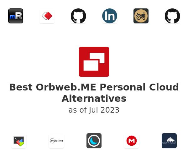 Best Orbweb.ME Personal Cloud Alternatives