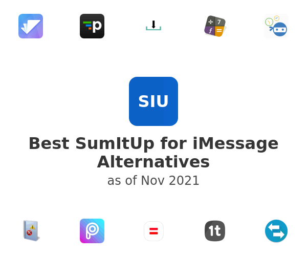 Best SumItUp for iMessage Alternatives