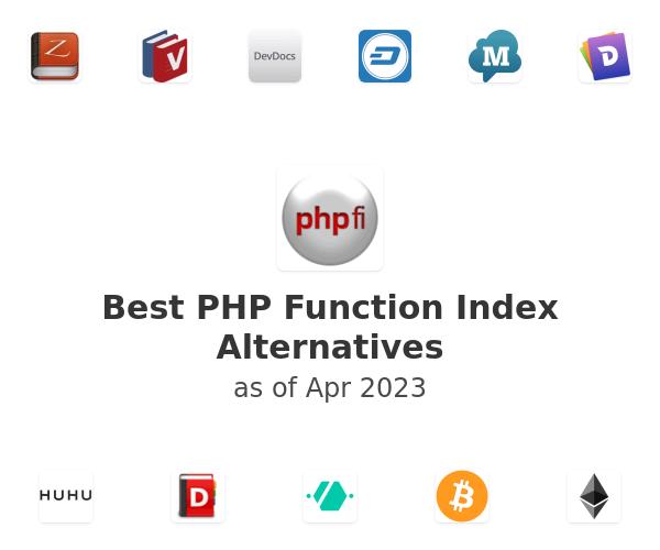 Best PHP Function Index Alternatives
