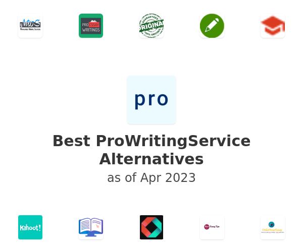 Best ProWritingService Alternatives