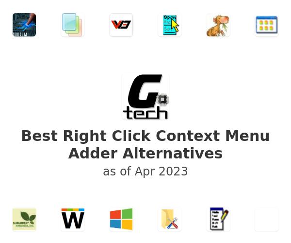 Best Right Click Context Menu Adder Alternatives