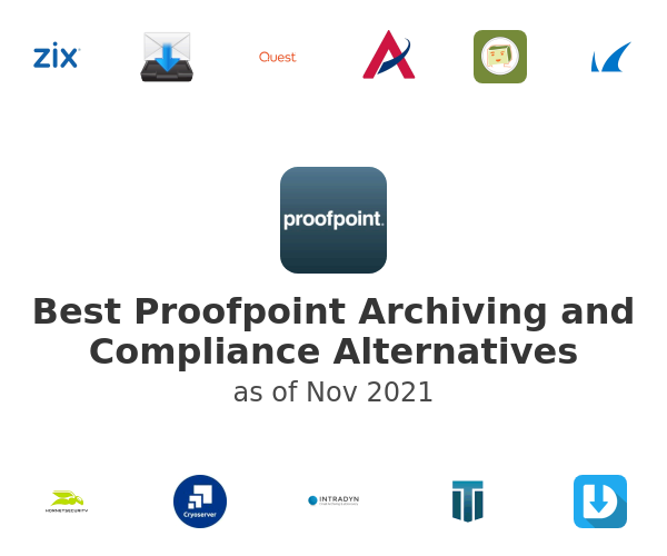 Best Proofpoint Archiving and Compliance Alternatives