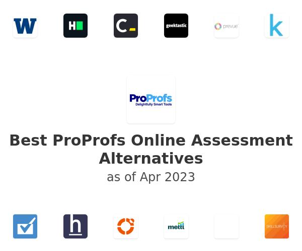 Best ProProfs Online Assessment Alternatives