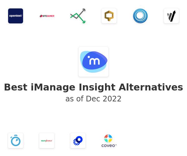Best iManage Insight Alternatives