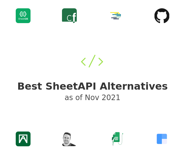 Best SheetAPI Alternatives