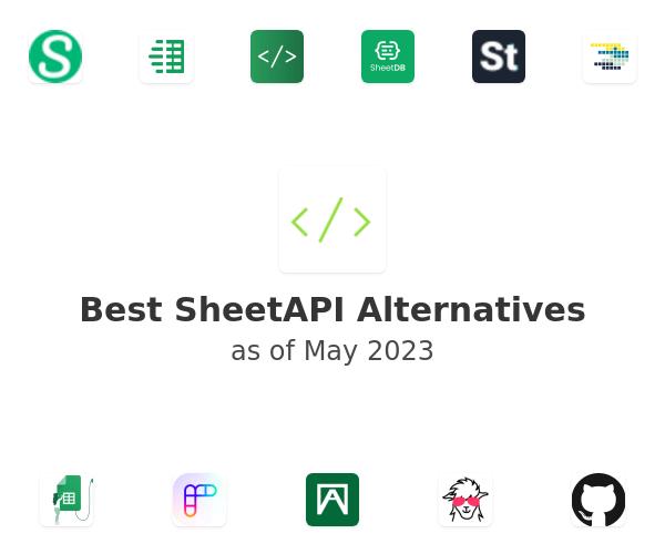 Best SheetAPI Alternatives