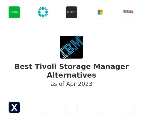 Best Tivoli Storage Manager Alternatives