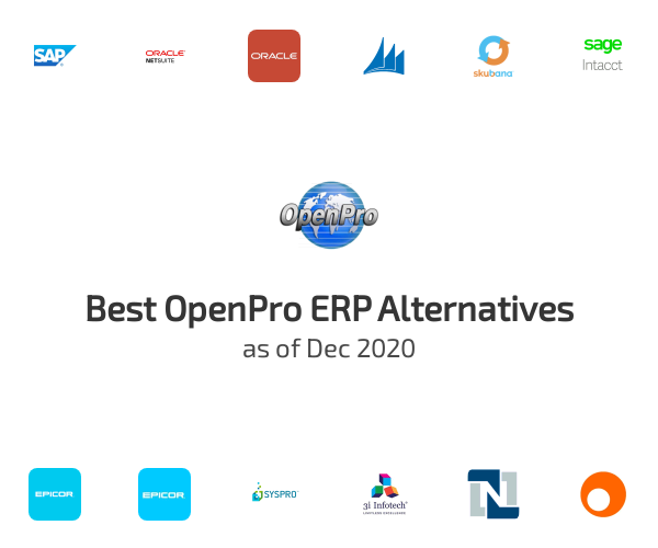 Best OpenPro ERP Alternatives