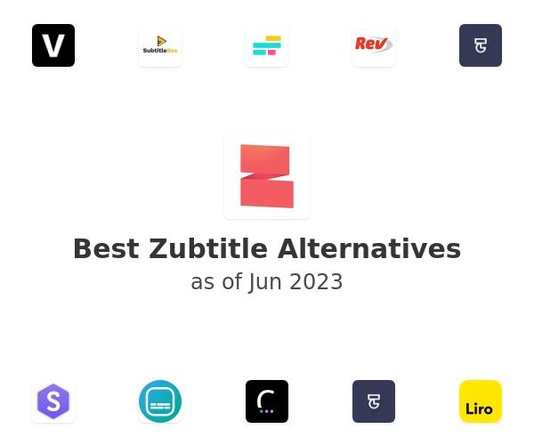 Best Zubtitle Alternatives