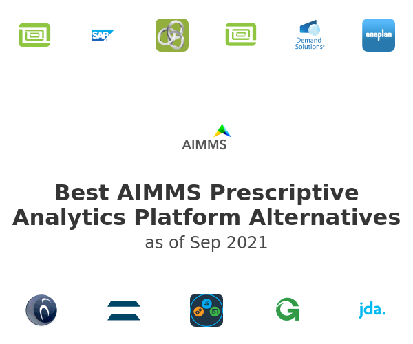 Best AIMMS Prescriptive Analytics Platform Alternatives