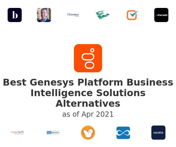 Best Genesys Platform Business Intelligence Solutions Alternatives