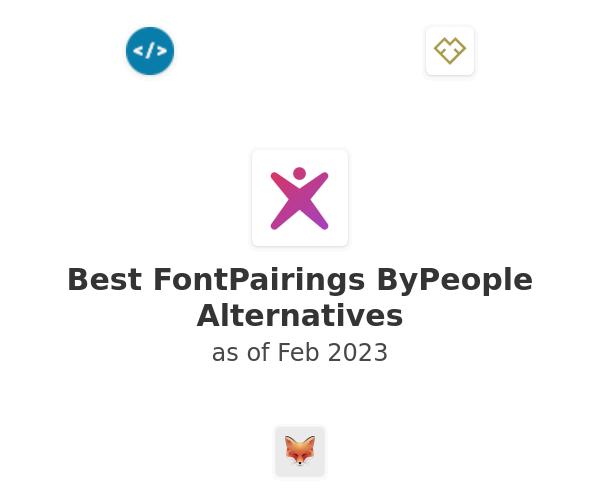 Best FontPairings ByPeople Alternatives
