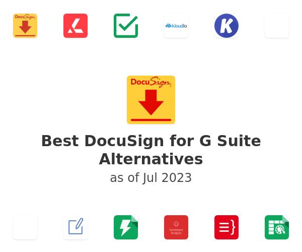 Best DocuSign for G Suite Alternatives