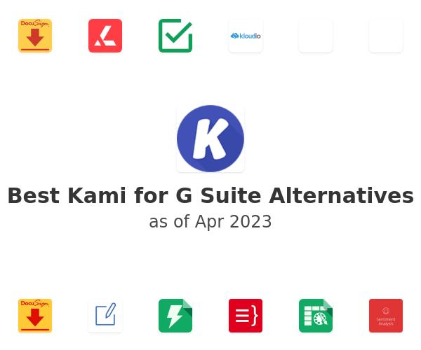Best Kami for G Suite Alternatives