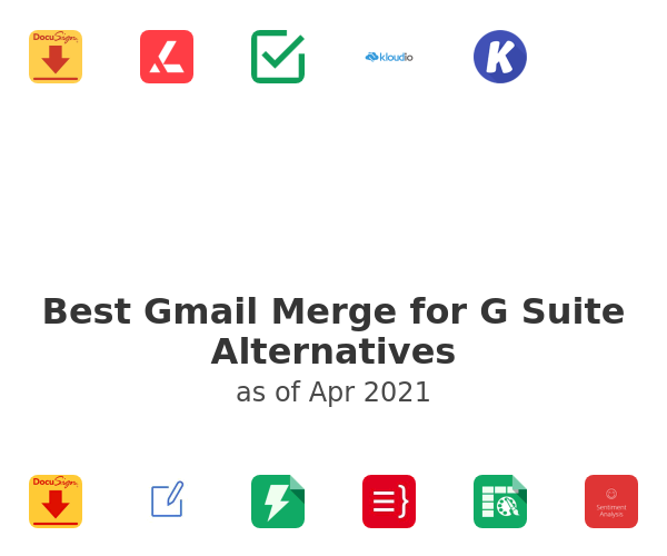 Best Gmail Merge for G Suite Alternatives
