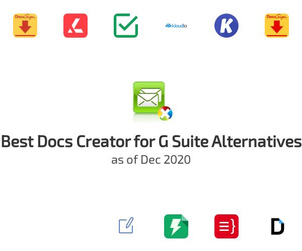 Best Docs Creator for G Suite Alternatives