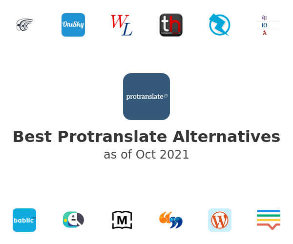 Best Protranslate Alternatives