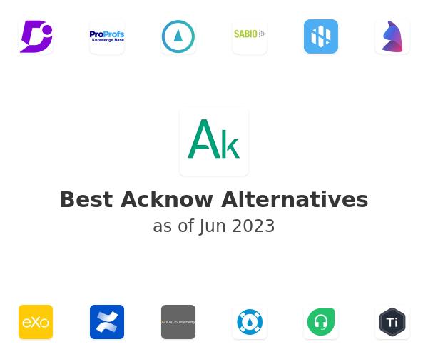 Best Acknow Alternatives