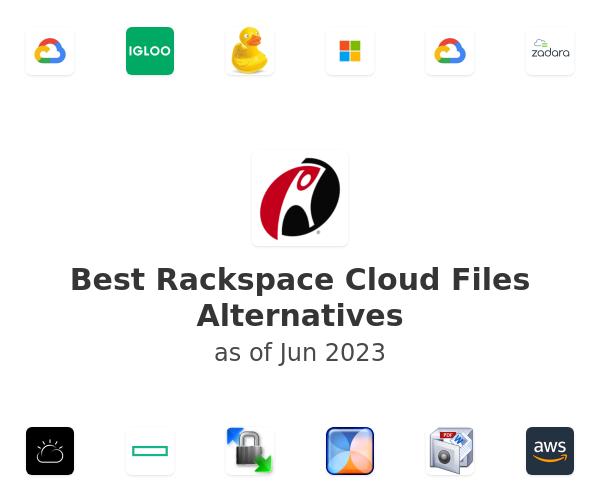Best Rackspace Cloud Files Alternatives