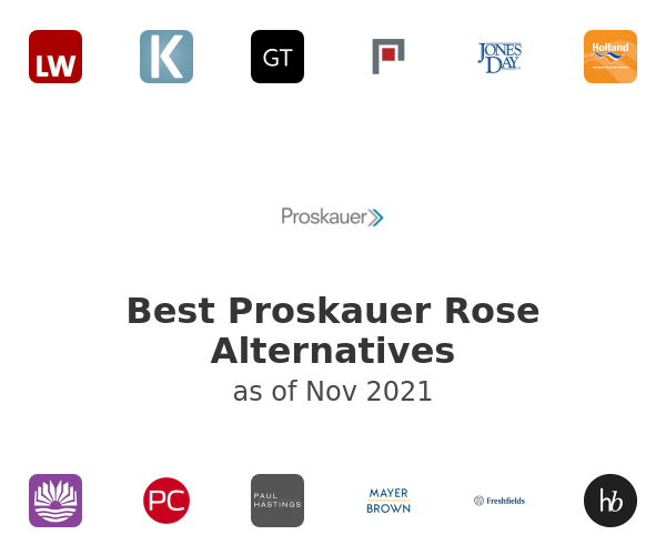 Best Proskauer Rose Alternatives