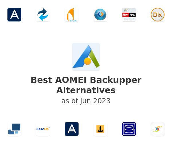 Best AOMEI Backupper Alternatives