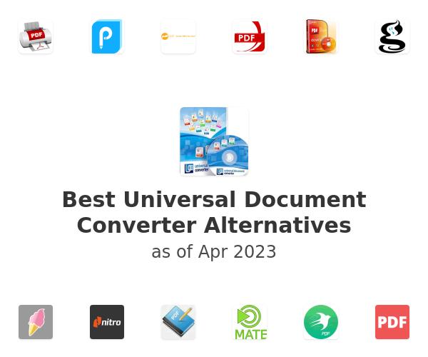 Best Universal Document Converter Alternatives