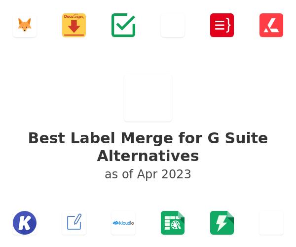 Best Label Merge for G Suite Alternatives