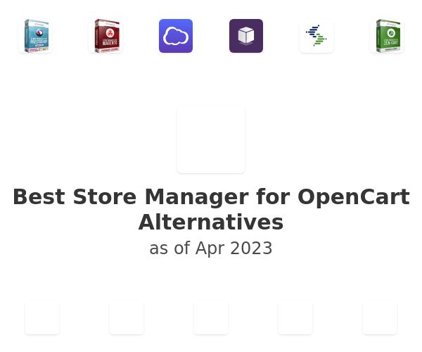 Best Store Manager for OpenCart Alternatives