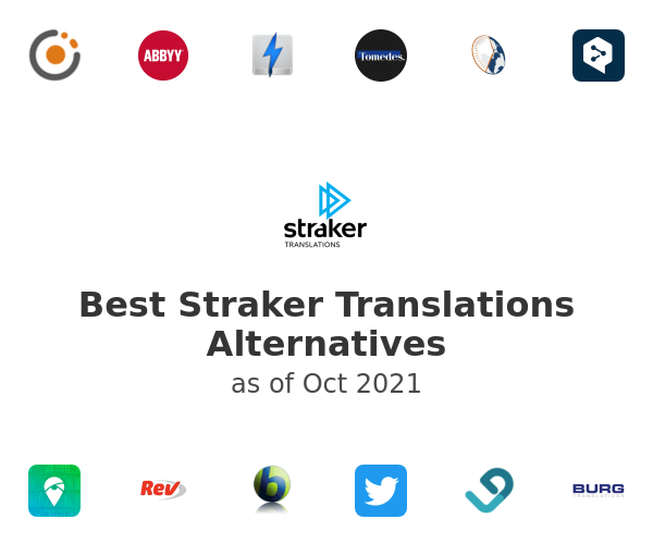 Best Straker Translations Alternatives